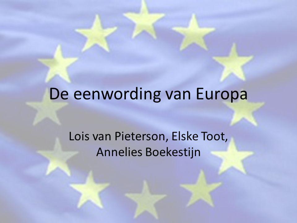 De eenwording van Europa
