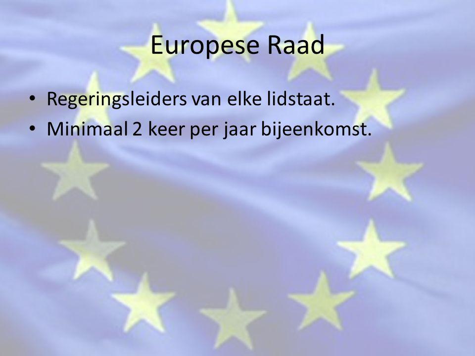 Europese Raad Regeringsleiders van elke lidstaat.