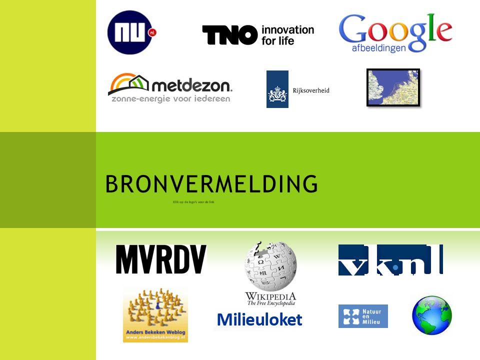 BRONVERMELDING Klik op de logo's voor de link