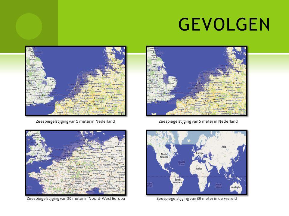 GEVOLGEN Zeespiegelstijging van 1 meter in Nederland