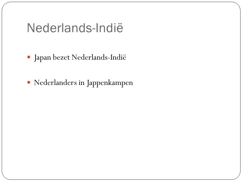 Nederlands-Indië Japan bezet Nederlands-Indië