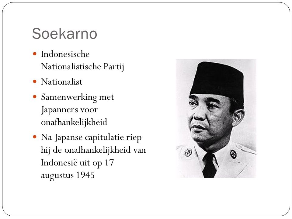 Soekarno Indonesische Nationalistische Partij Nationalist