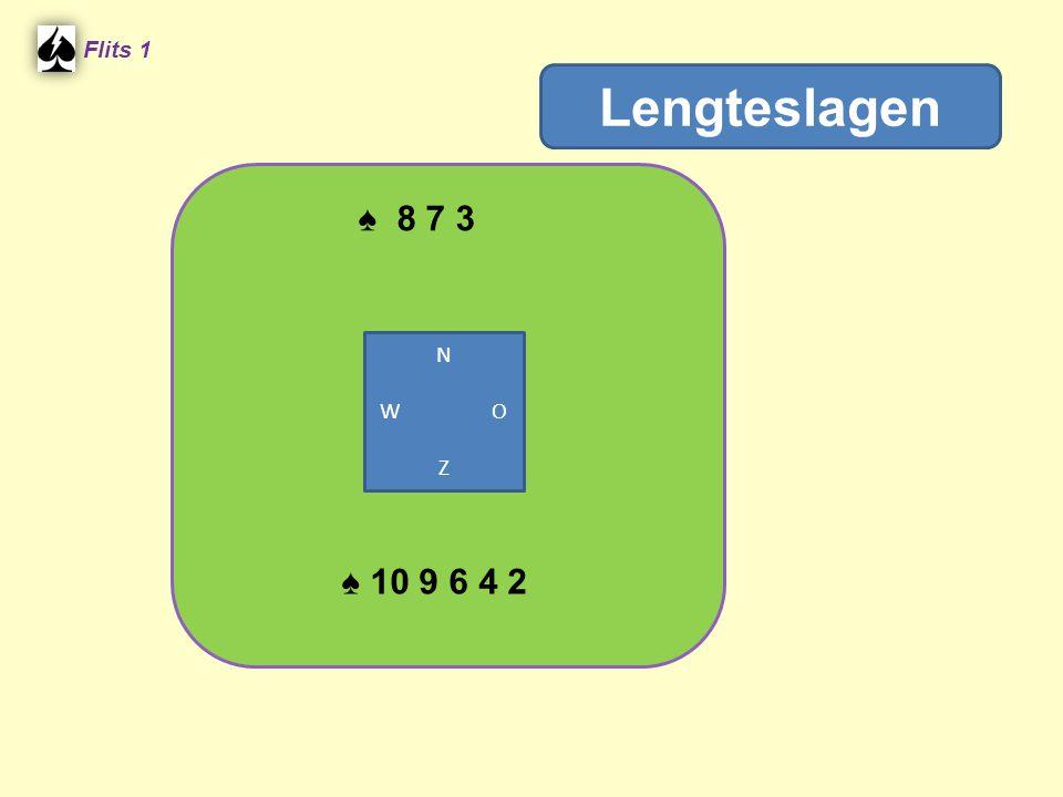 Flits 1 Lengteslagen ♠ 8 7 3 N W O Z ♠ 10 9 6 4 2