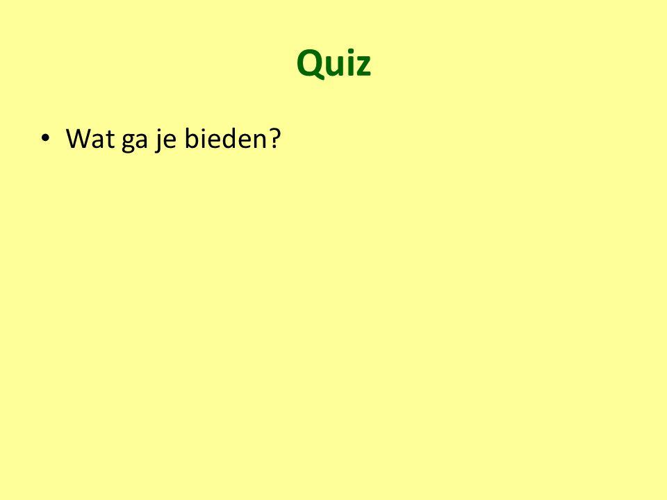 Quiz Wat ga je bieden