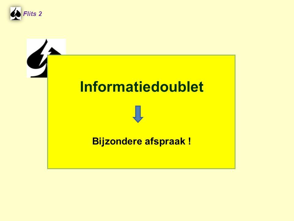Flits 2 Informatiedoublet Bijzondere afspraak ! Spel 2.