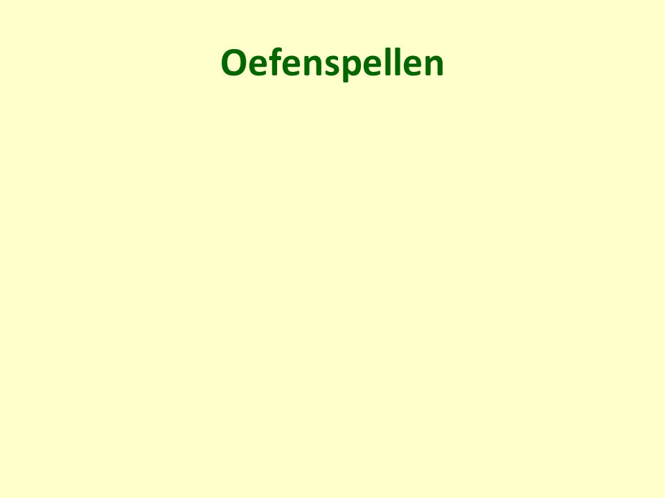 Oefenspellen