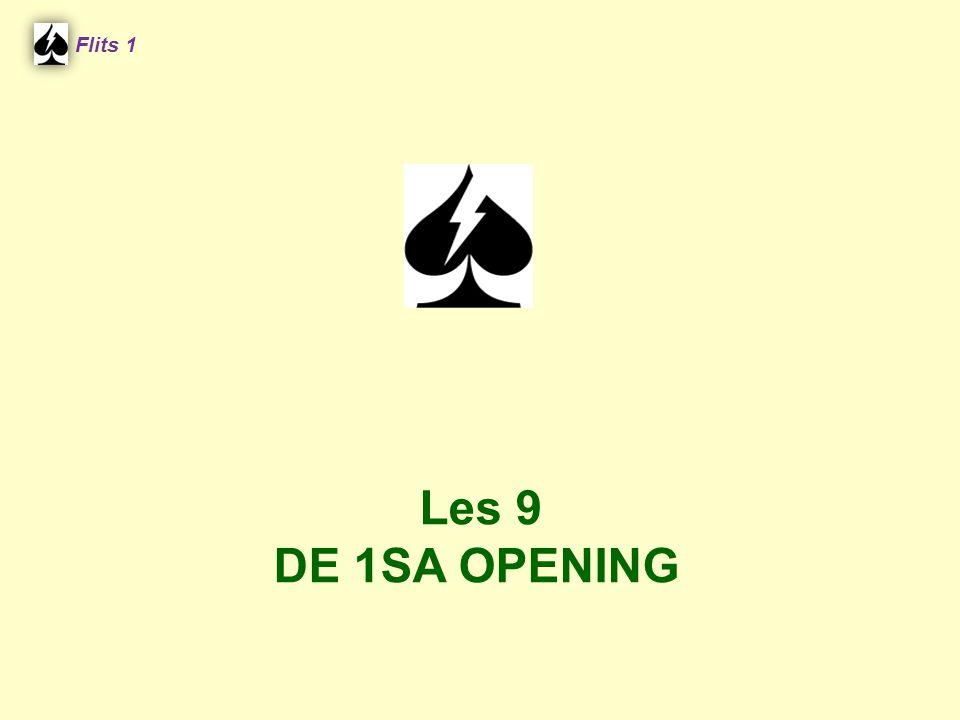 Flits 1 Spel 2. Les 9 DE 1SA OPENING