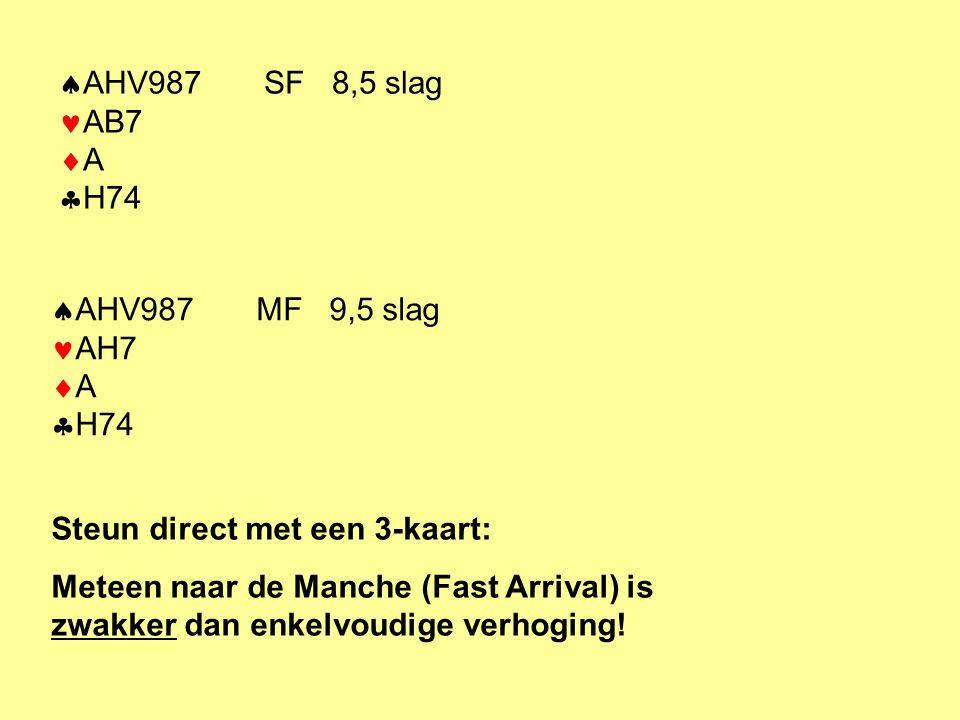 AHV987 SF 8,5 slag AB7 A H74 AHV987 MF 9,5 slag AH7 A H74. Steun direct met een 3-kaart: