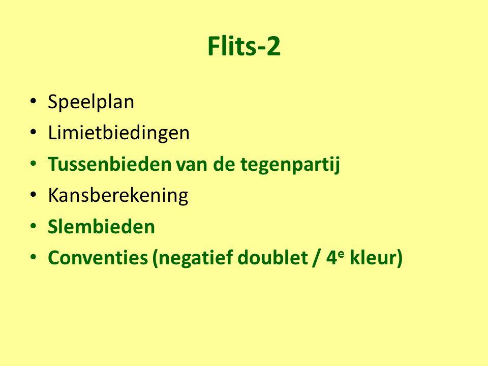 Flits-2 Speelplan Limietbiedingen Tussenbieden van de tegenpartij