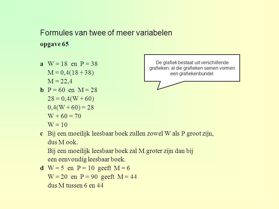 Formules van twee of meer variabelen
