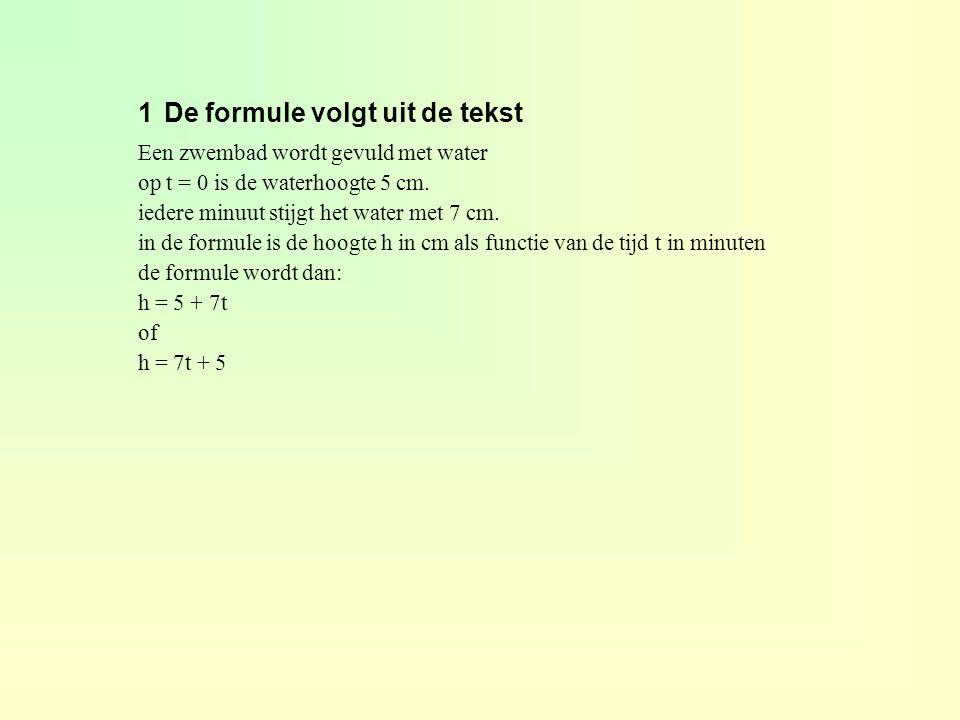 1 De formule volgt uit de tekst