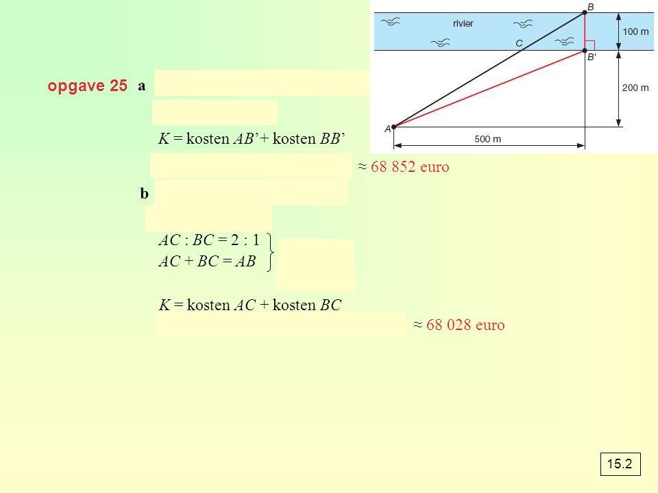 K = kosten AB'+ kosten BB'