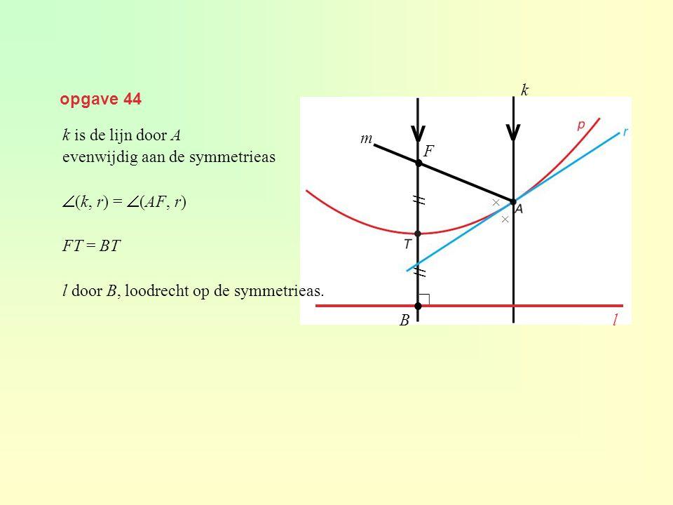 V V k opgave 44 k is de lijn door A evenwijdig aan de symmetrieas