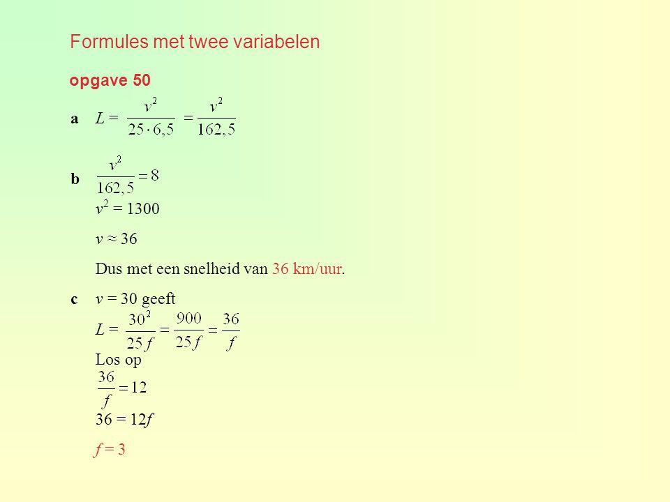 Formules met twee variabelen