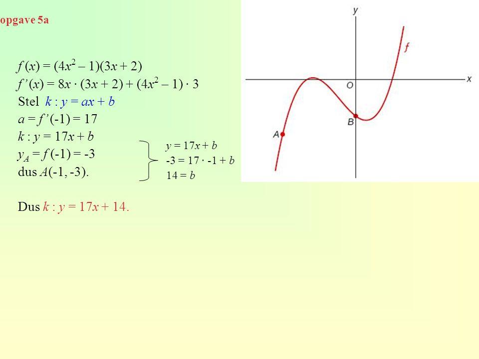 f (x) = (4x2 – 1)(3x + 2) f' (x) = 8x · (3x + 2) + (4x2 – 1) · 3
