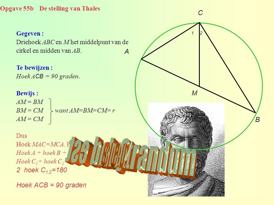Opgave 55b De stelling van Thales