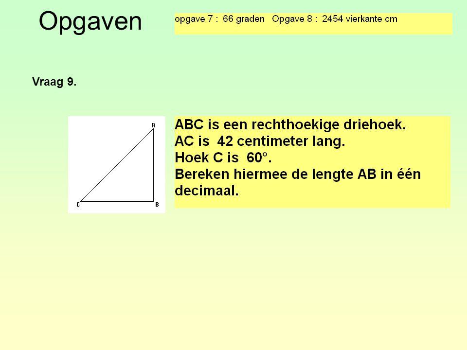 Opgaven Vraag 9.