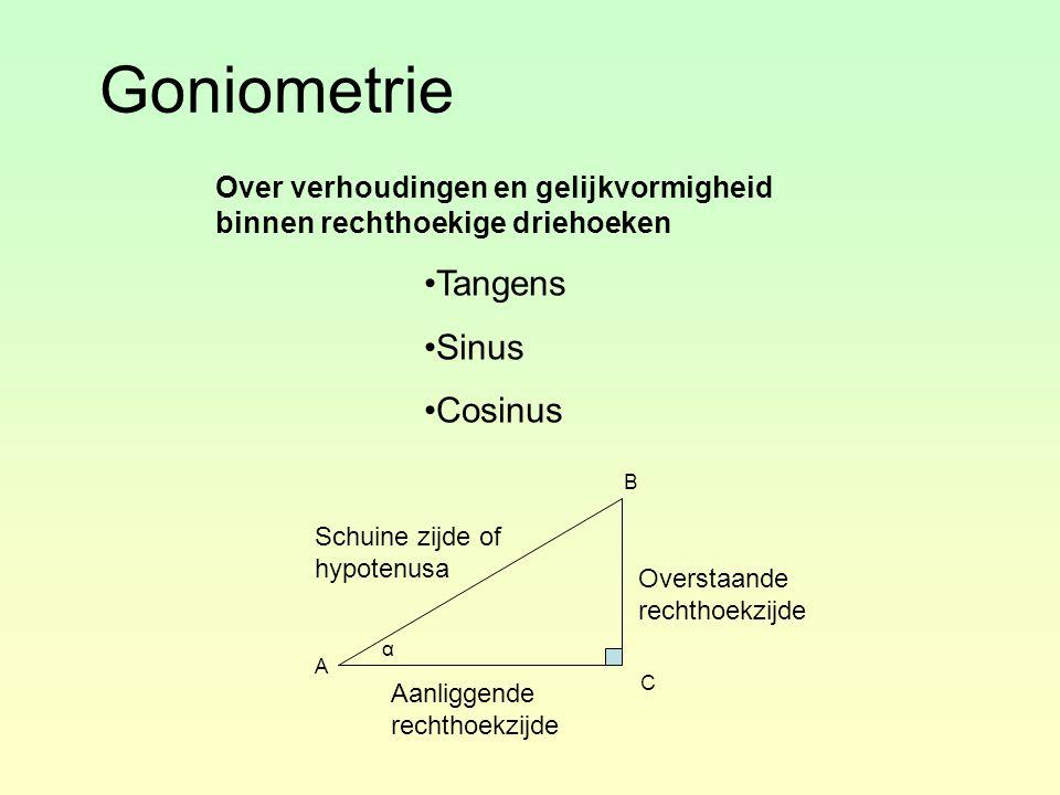 Goniometrie Tangens Sinus Cosinus