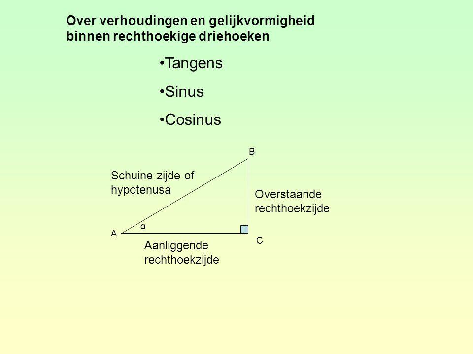 Over verhoudingen en gelijkvormigheid binnen rechthoekige driehoeken