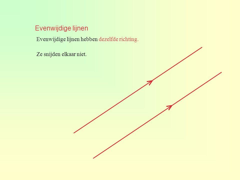 > > Evenwijdige lijnen
