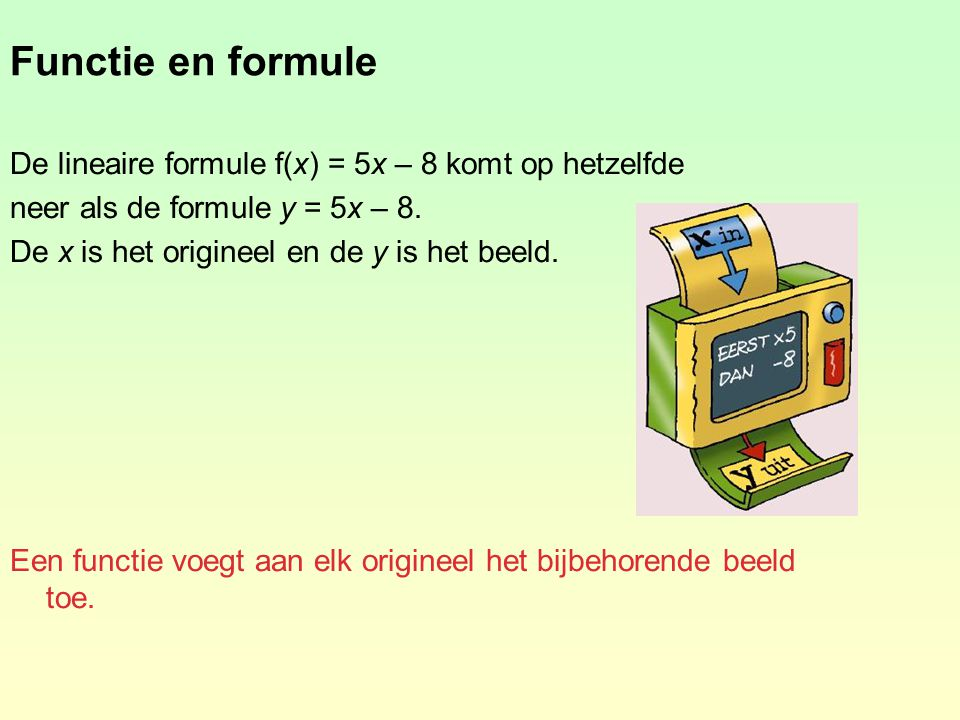 wiskunde lineaire formules oefenen