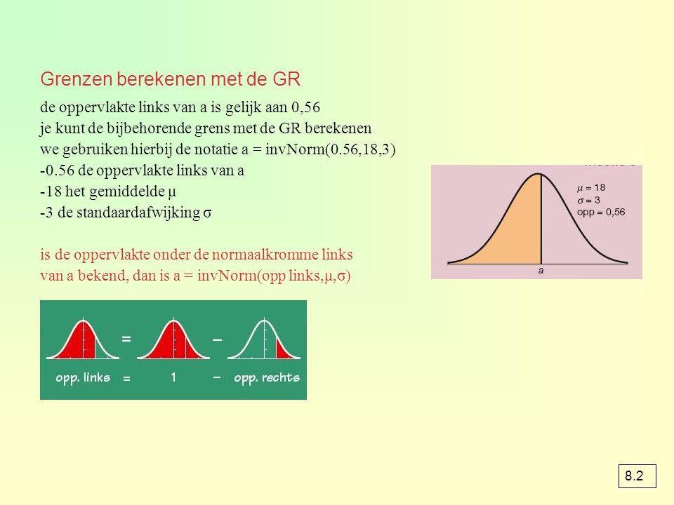 Grenzen berekenen met de GR