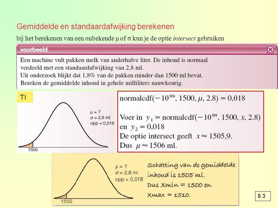 Gemiddelde en standaardafwijking berekenen