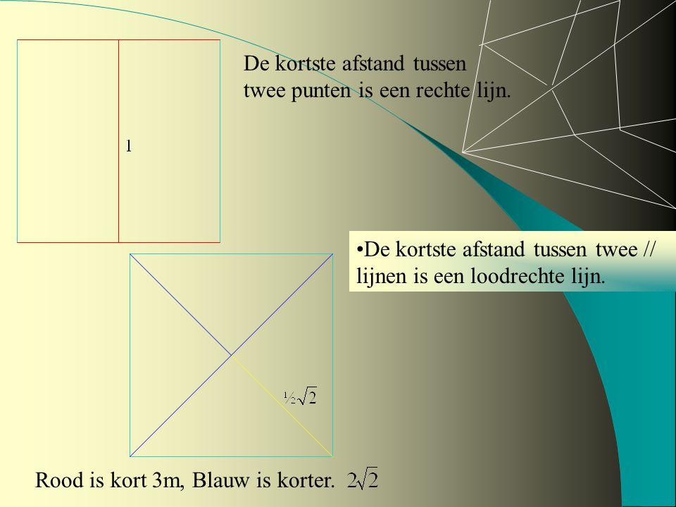 De kortste afstand tussen twee punten is een rechte lijn.