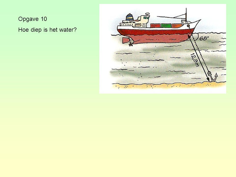 Opgave 10 Hoe diep is het water