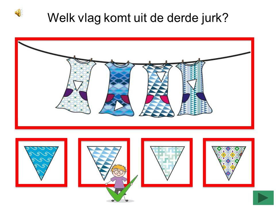 Welk vlag komt uit de derde jurk