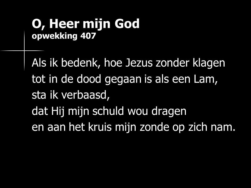 O, Heer mijn God opwekking 407