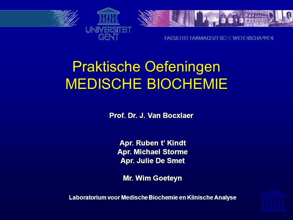 Laboratorium voor Medische Biochemie en Klinische Analyse