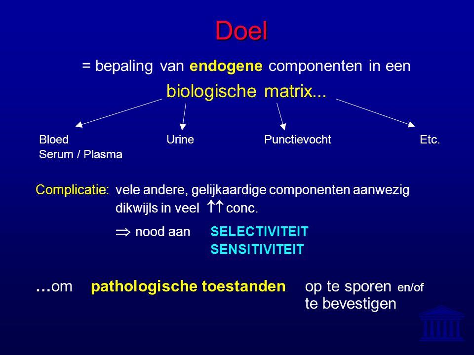 = bepaling van endogene componenten in een