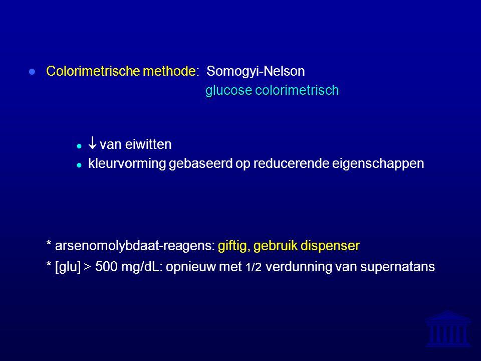 Colorimetrische methode: Somogyi-Nelson