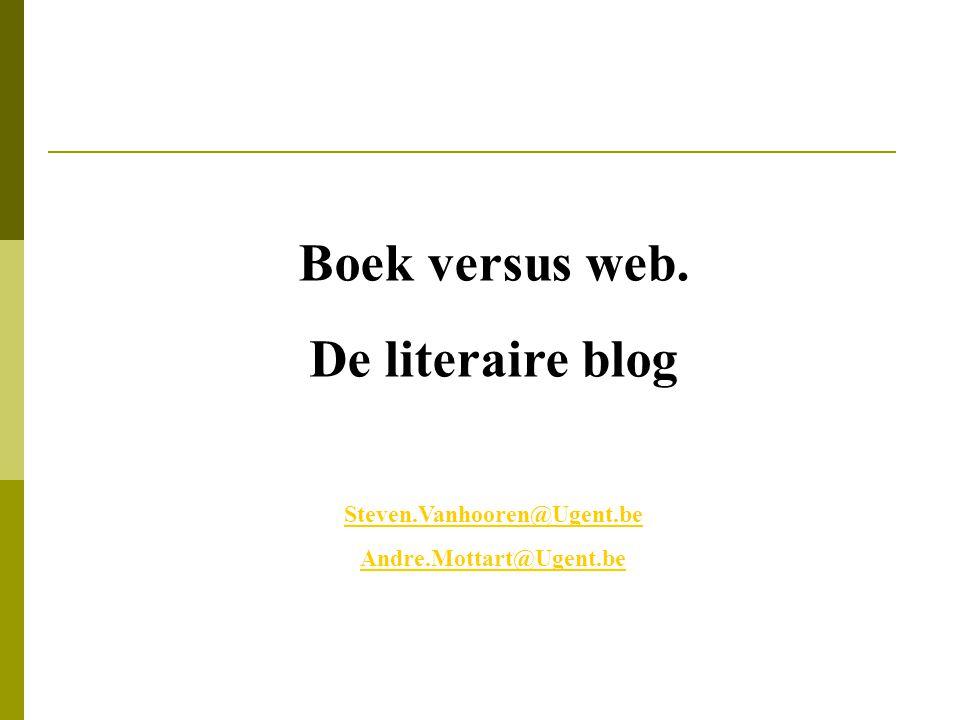 Boek versus web. De literaire blog
