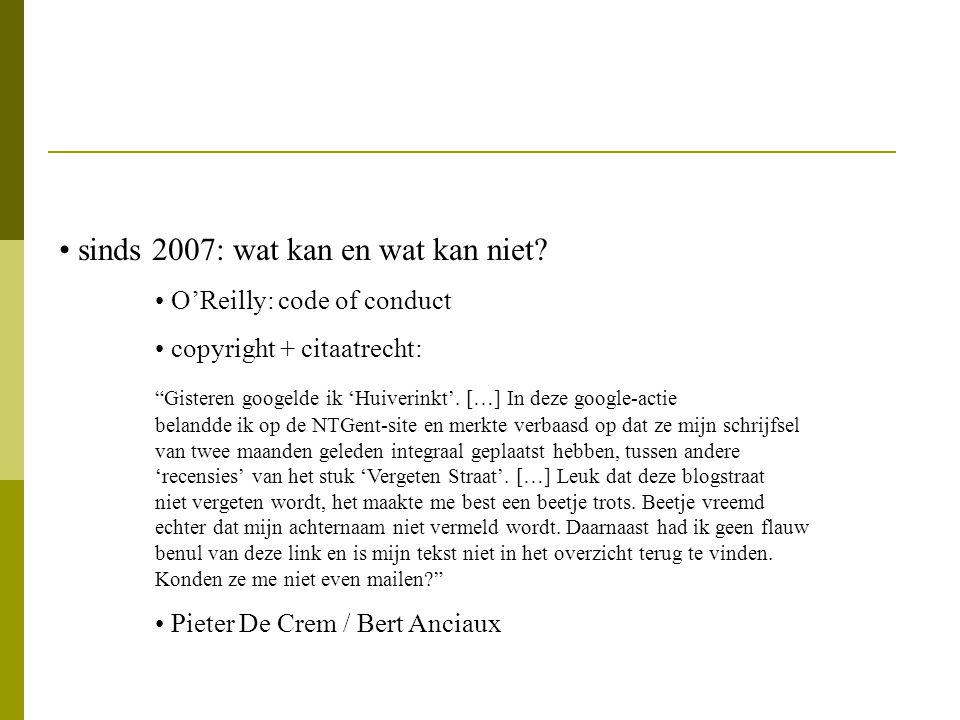 sinds 2007: wat kan en wat kan niet