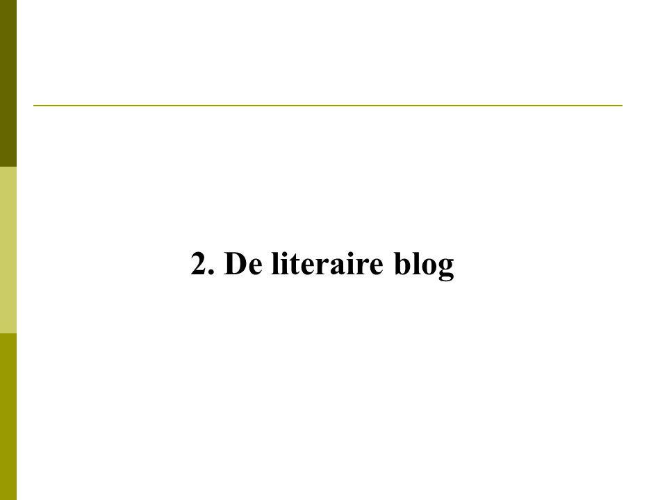 2. De literaire blog