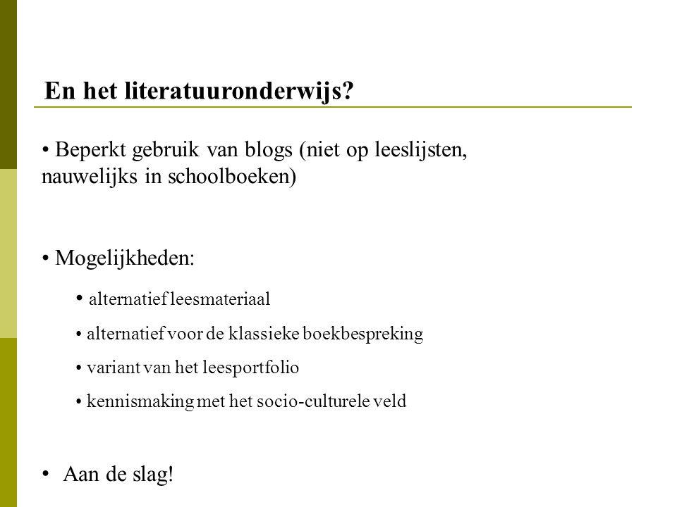 En het literatuuronderwijs