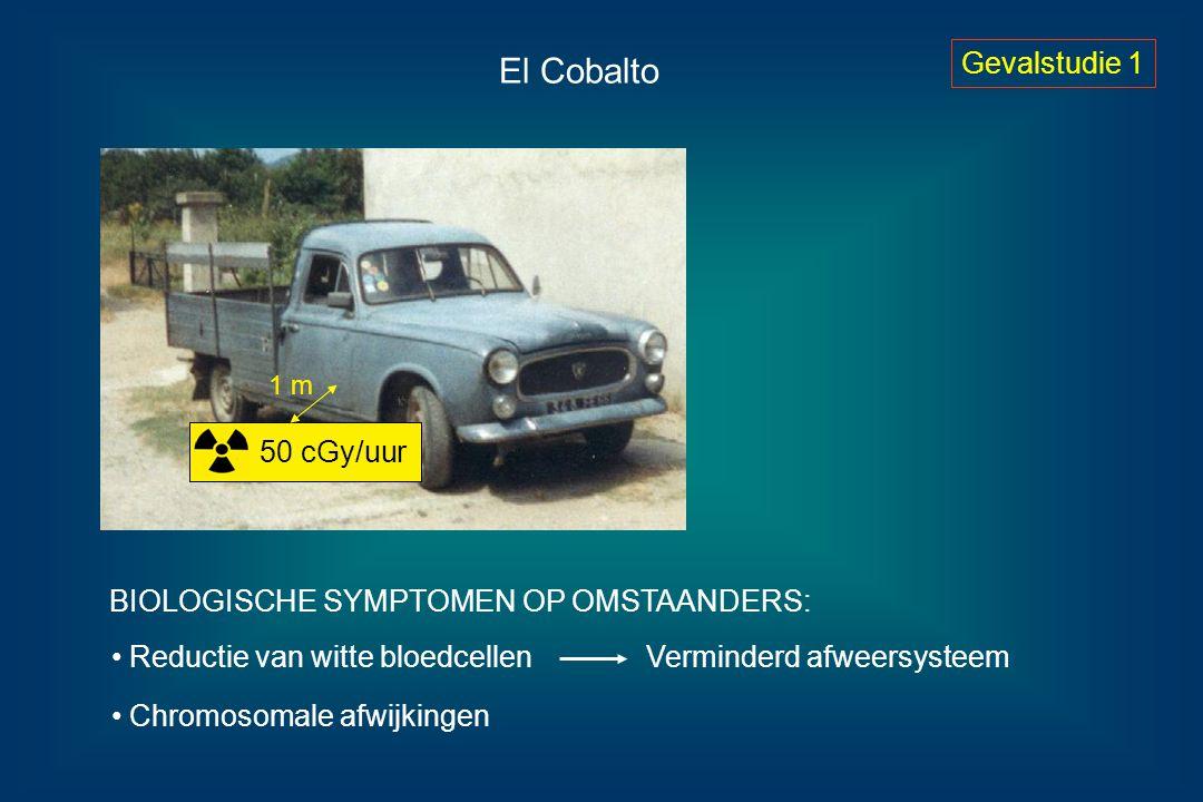 El Cobalto Gevalstudie 1 50 cGy/uur Reductie van witte bloedcellen