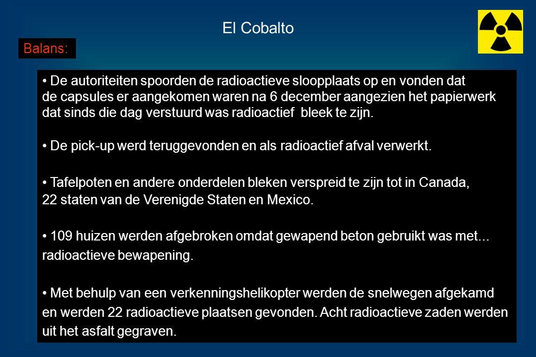 El Cobalto Balans: De autoriteiten spoorden de radioactieve sloopplaats op en vonden dat.