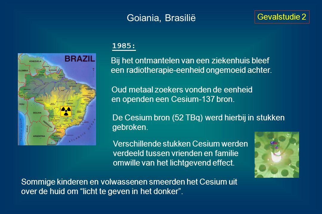Goiania, Brasilië Gevalstudie 2 1985: