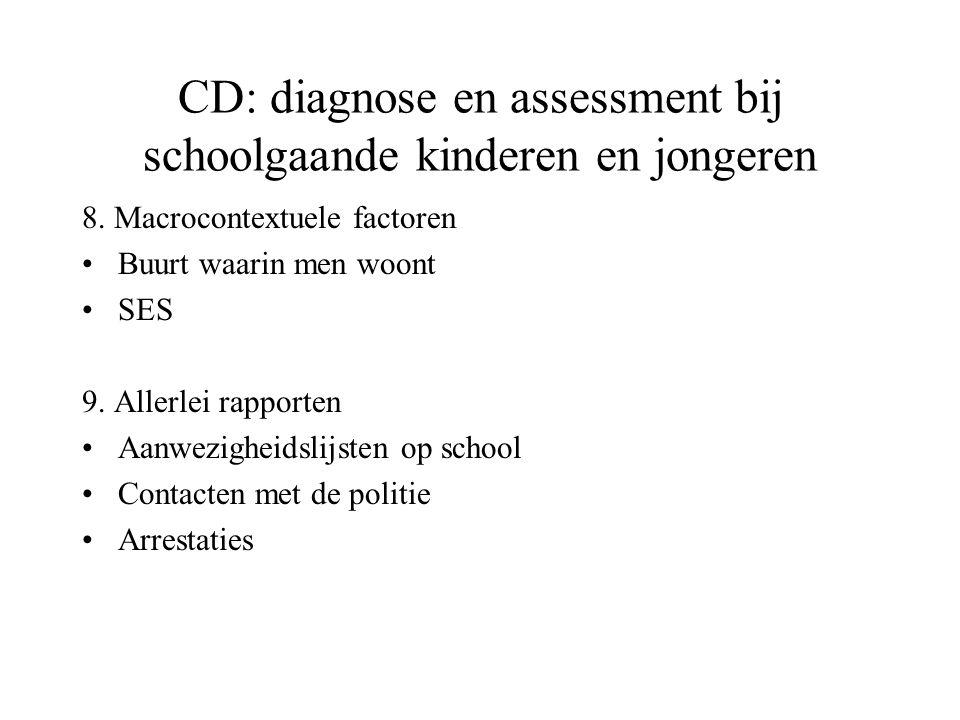 CD: diagnose en assessment bij schoolgaande kinderen en jongeren
