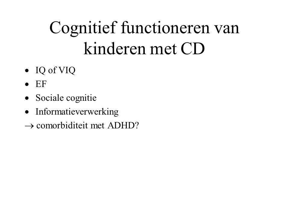 Cognitief functioneren van kinderen met CD