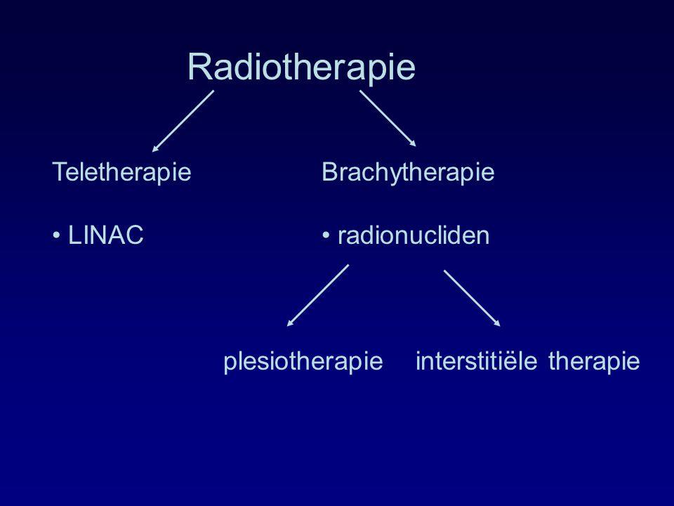 Radiotherapie Teletherapie Brachytherapie • LINAC • radionucliden