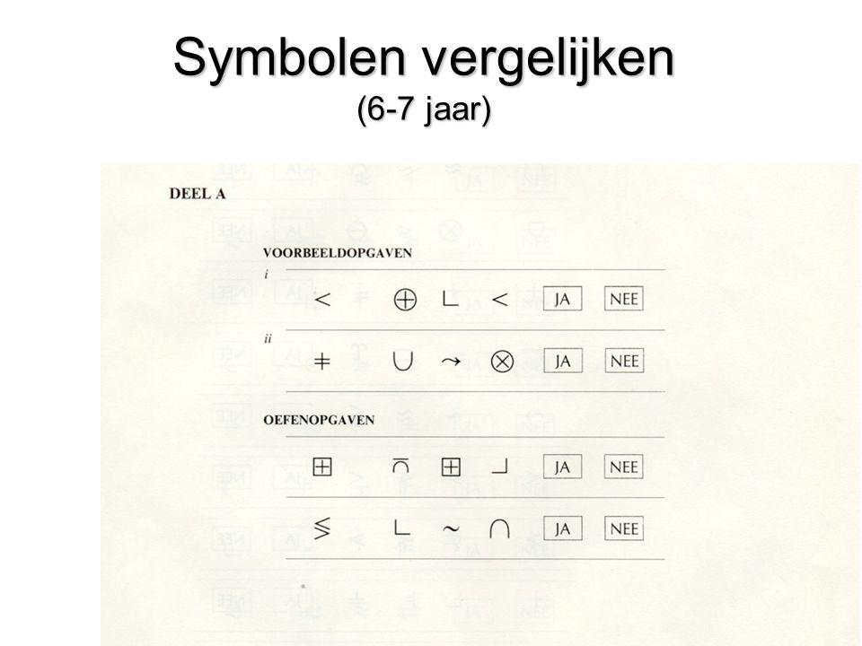 Symbolen vergelijken (6-7 jaar)
