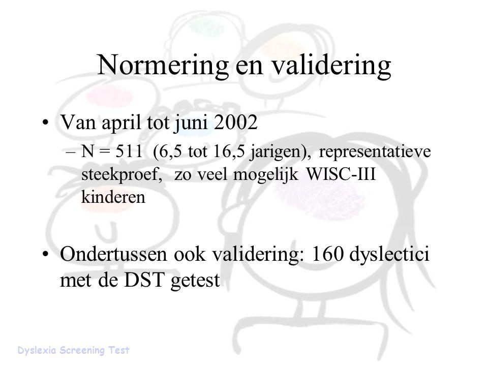 Normering en validering