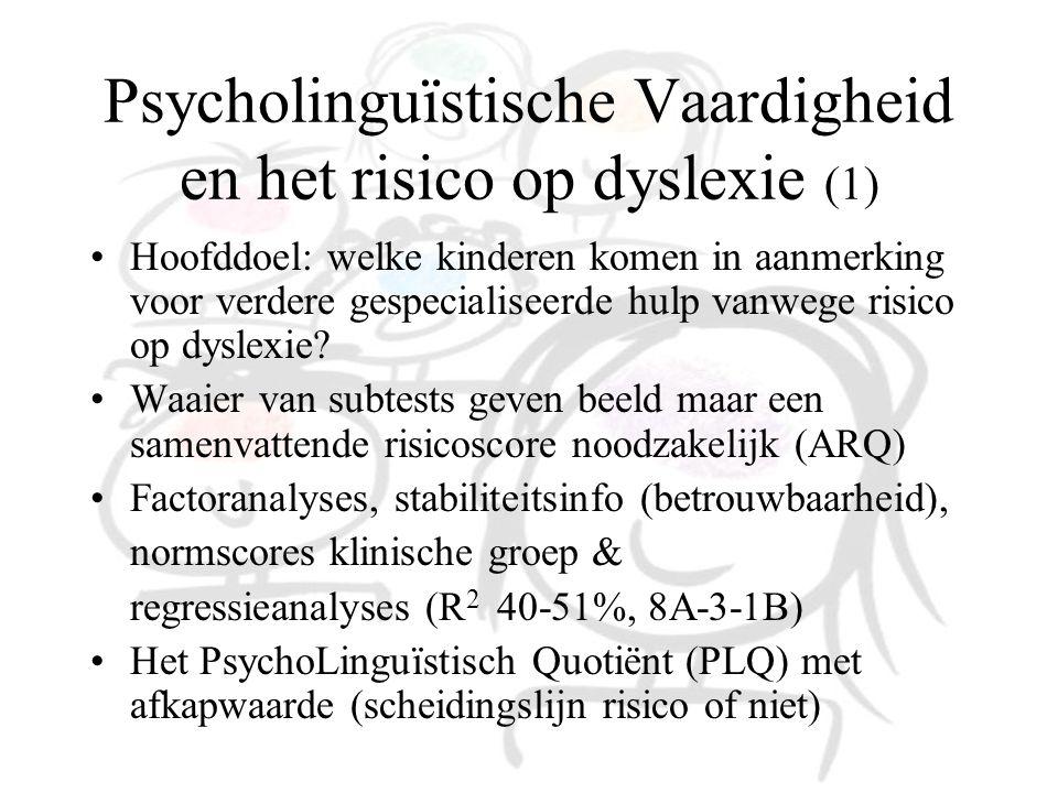 Psycholinguïstische Vaardigheid en het risico op dyslexie (1)
