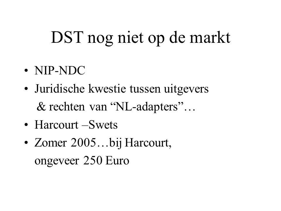 DST nog niet op de markt NIP-NDC Juridische kwestie tussen uitgevers