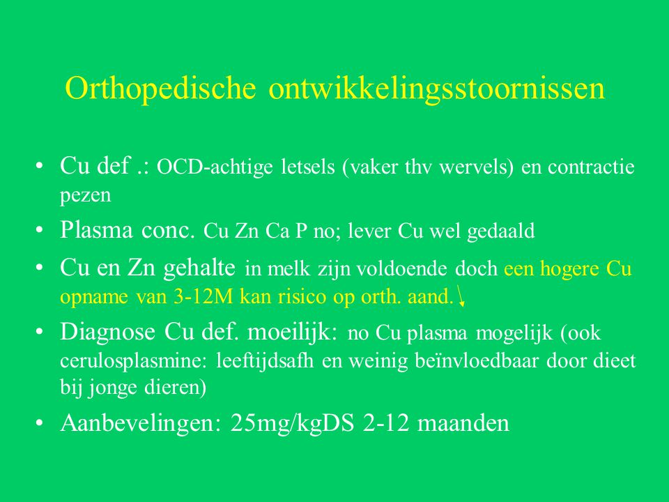 Orthopedische ontwikkelingsstoornissen