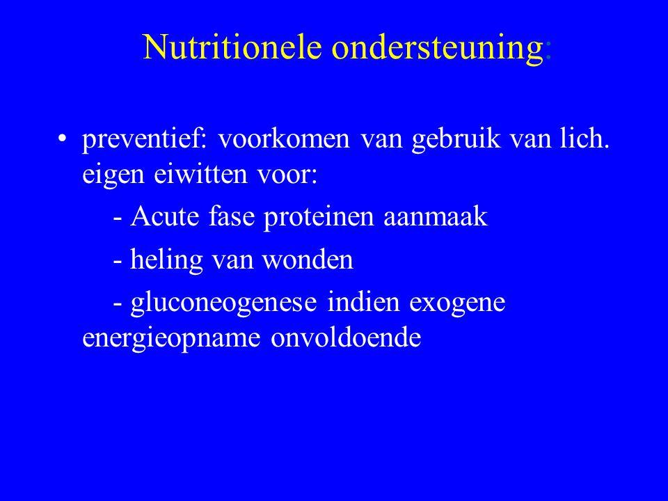 Nutritionele ondersteuning: